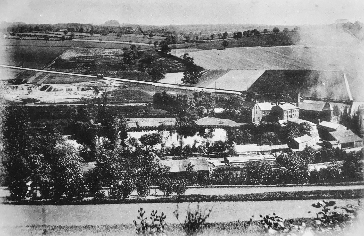 33  Grove Mill and Pond (demolished), c1890