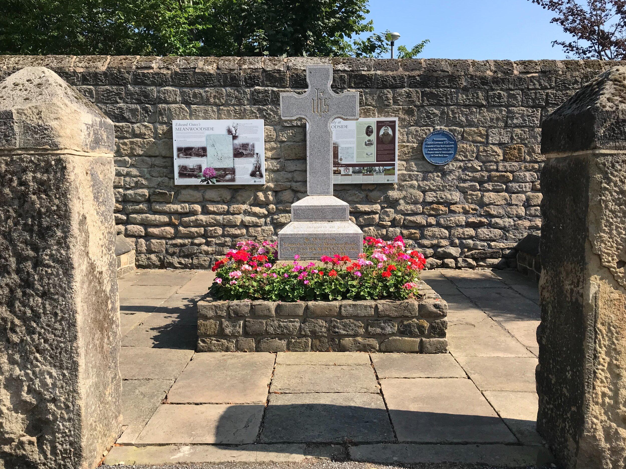 Oates Memorial, Meanwood Park © HP