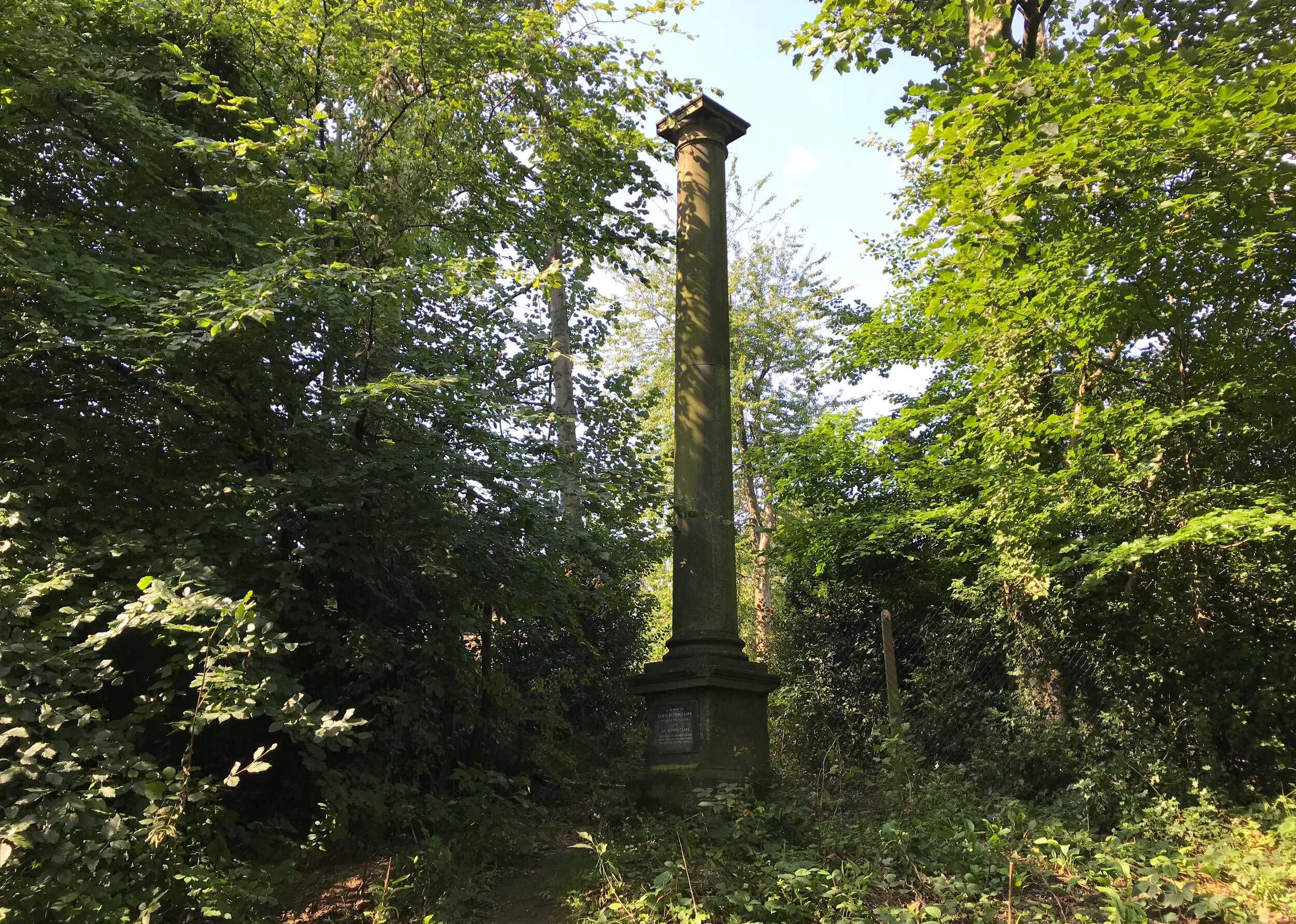 Column from Mill Hill Chapel, Meanwood Park © HP