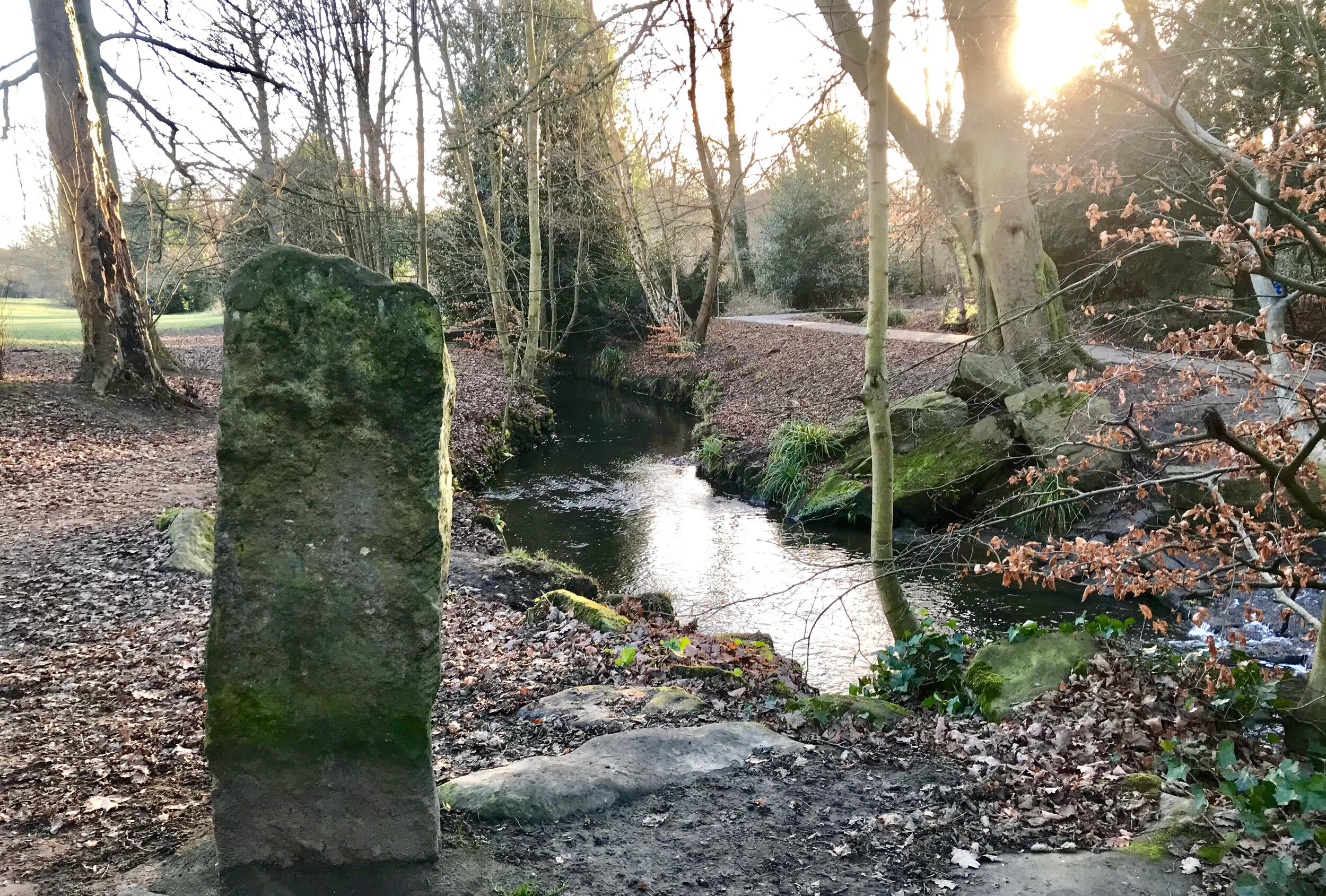 Stone by the Bridge, American Garden, Meanwood Park © HP