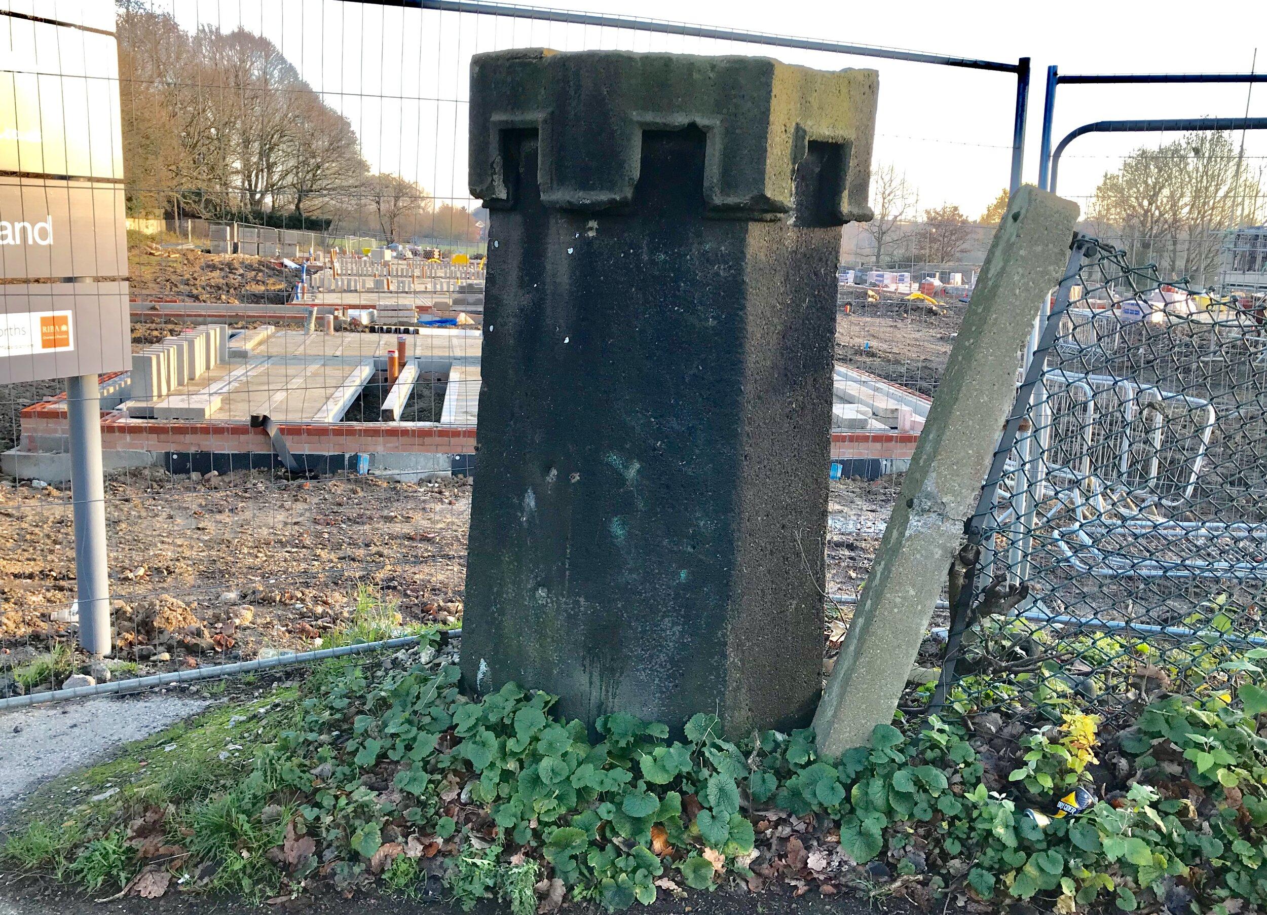Remains of Original Gateway into Beckett Park, West Park Fields © HP