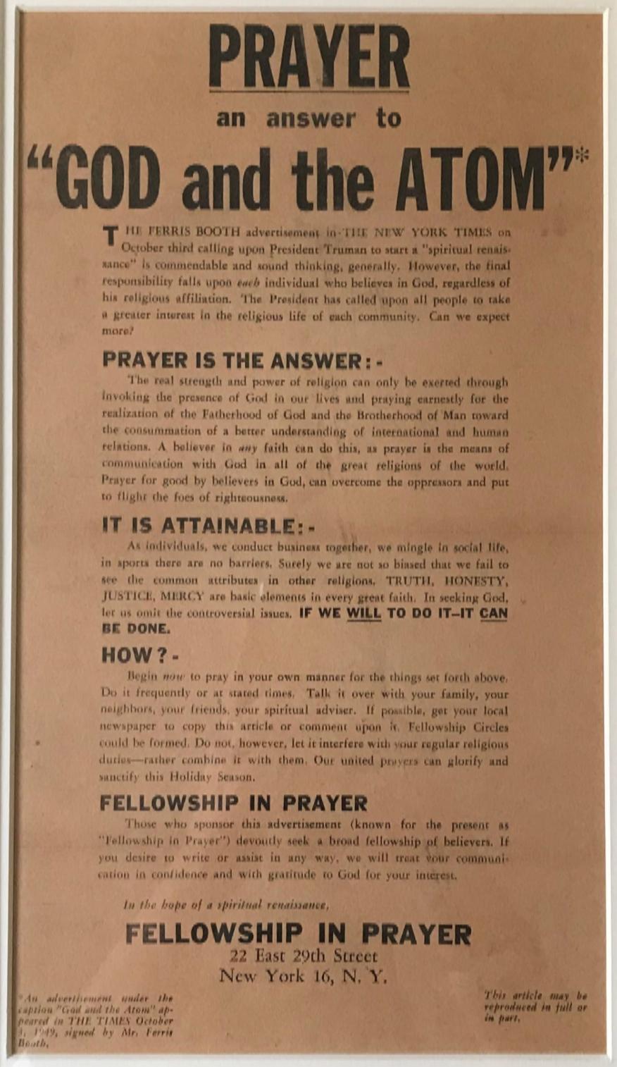 Prayer and the ATOM