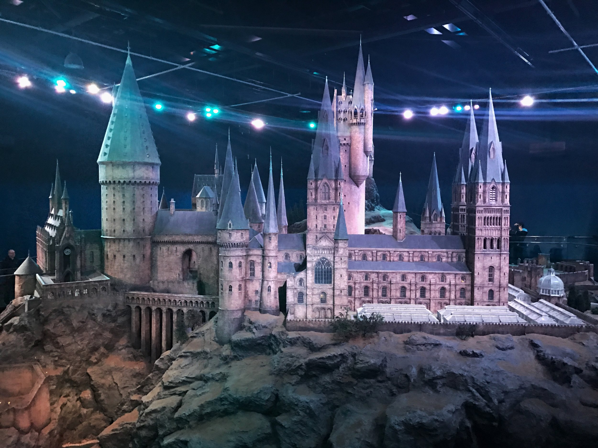 To scale model of Hogwarts