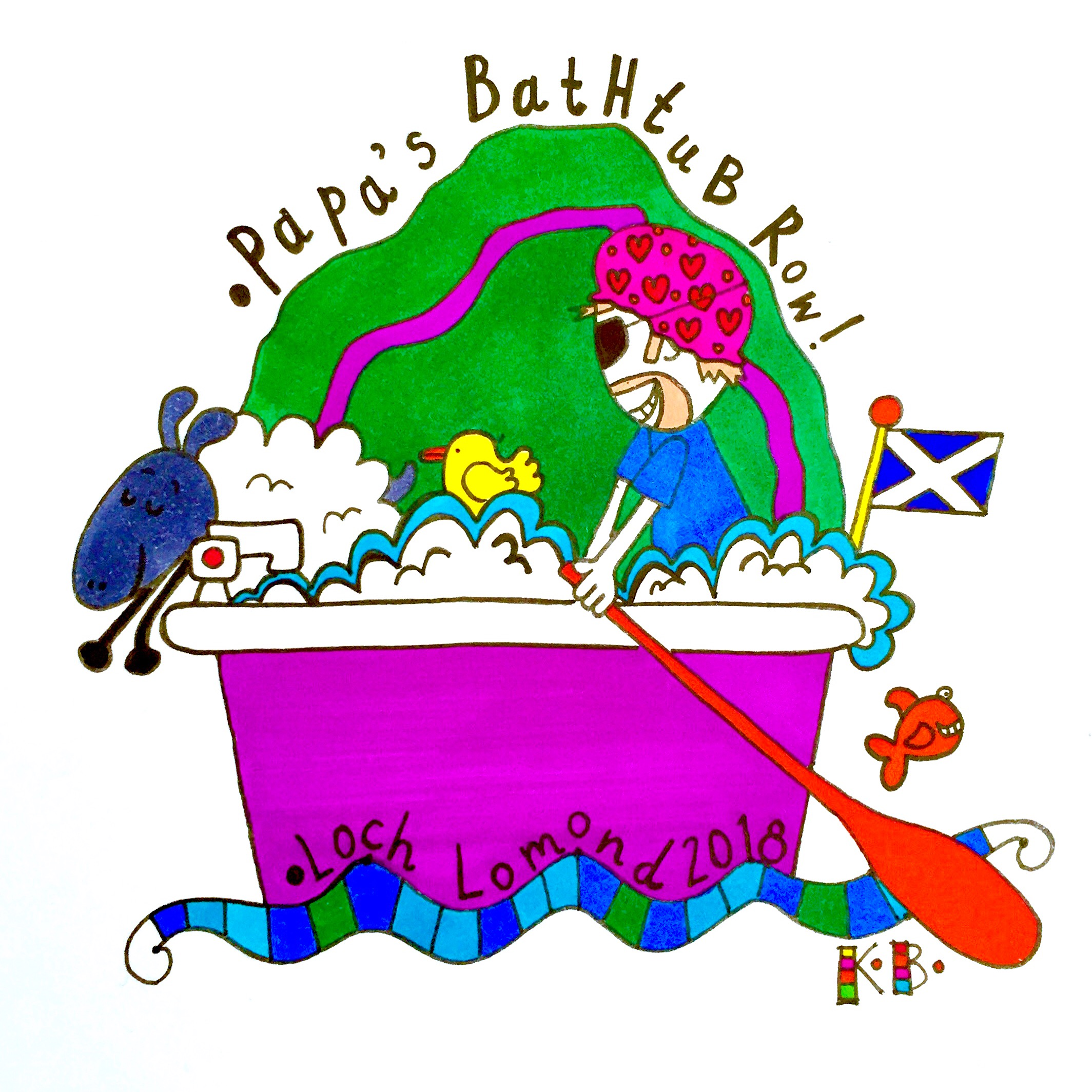 Logo for a charity bathtub row. Yes I though the same! Seriously? Apparently so!