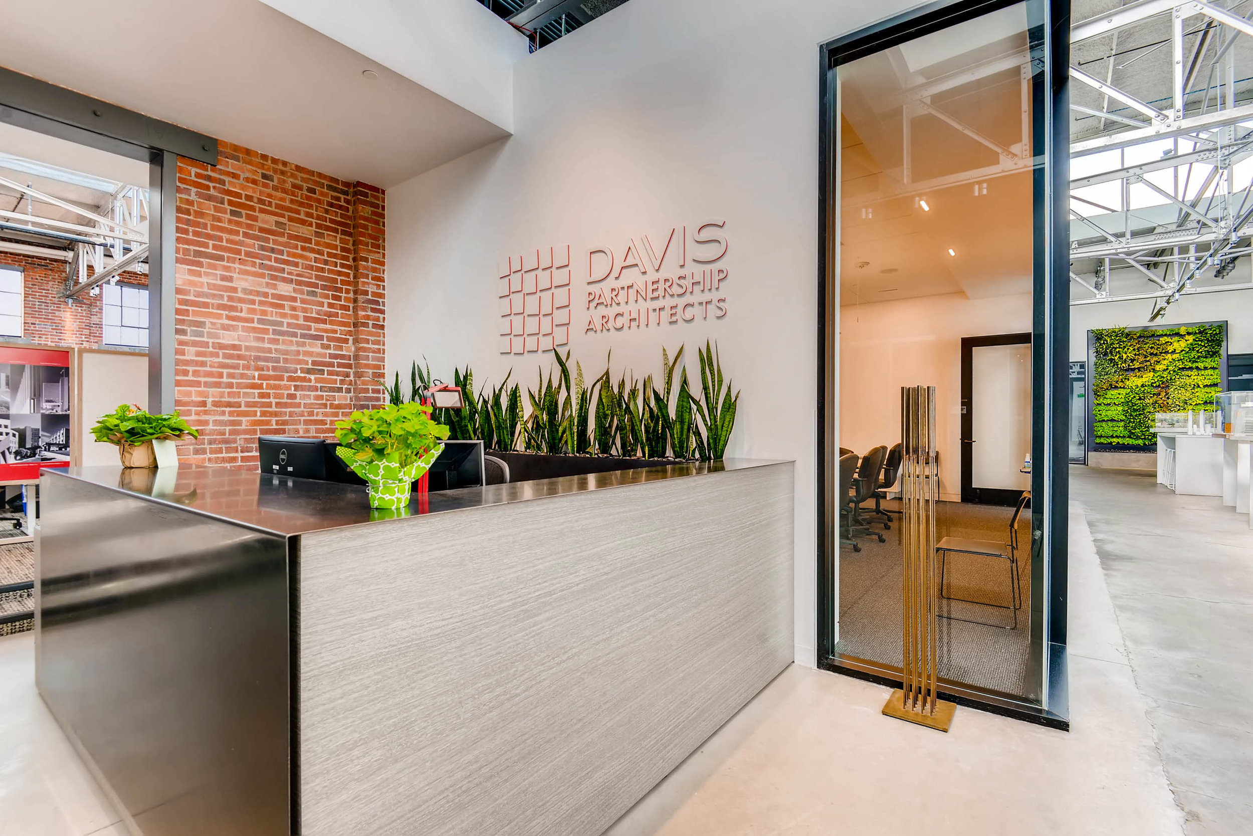 Davis Partnership Architects - Interior Living Wall by Suite Plants