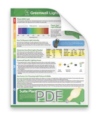 Greenwall Lighting Primer