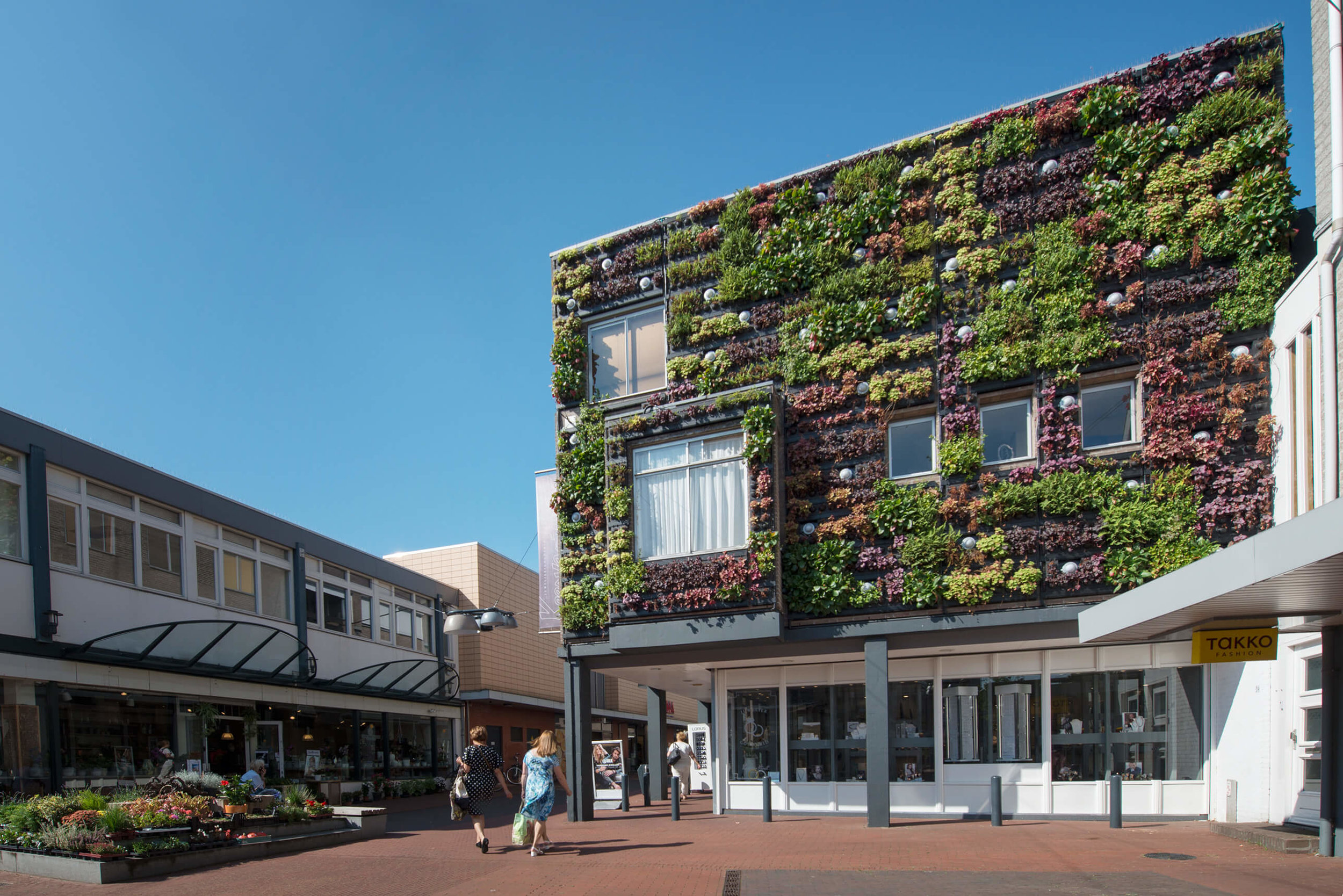 Custom Living Wall for Building Exterior - Veghel, Netherlands