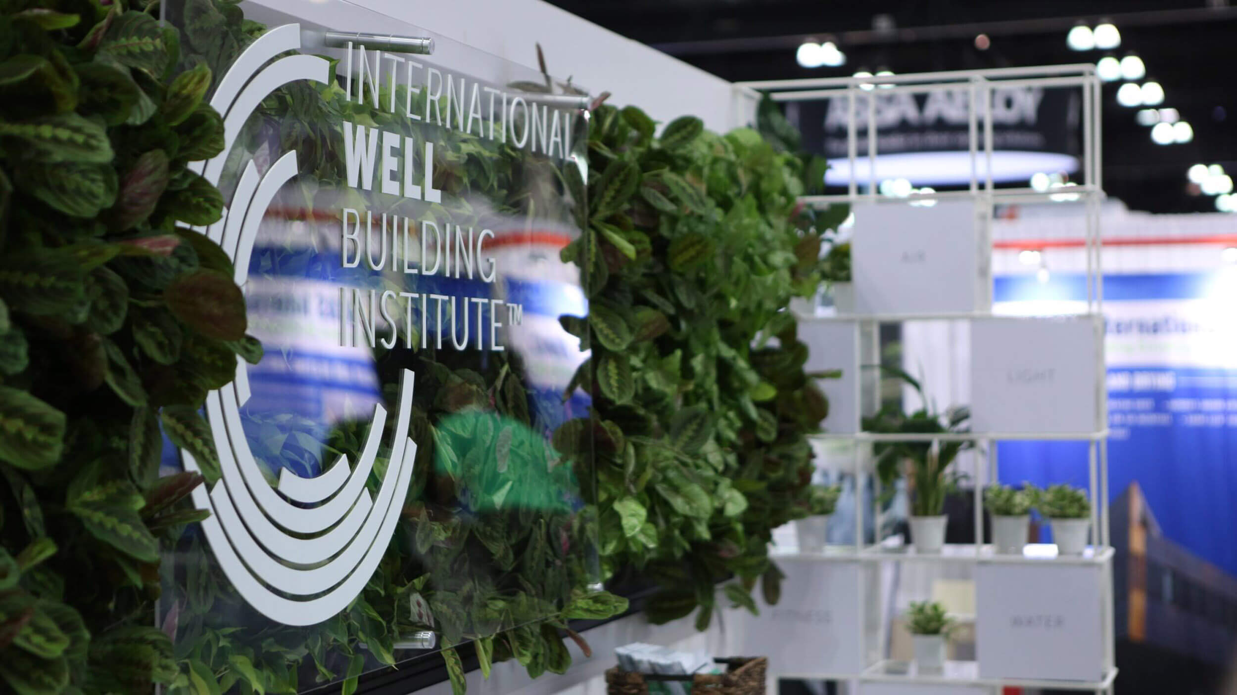 Tradeshow Living Wall Design by Suite Plants for Well Building Institute
