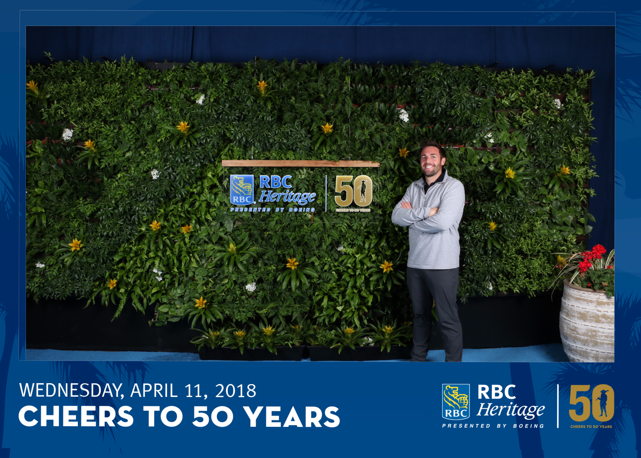 Partner Eric Westerduin shown with Suite Plants Custom Living Wall at PGA Tour Event