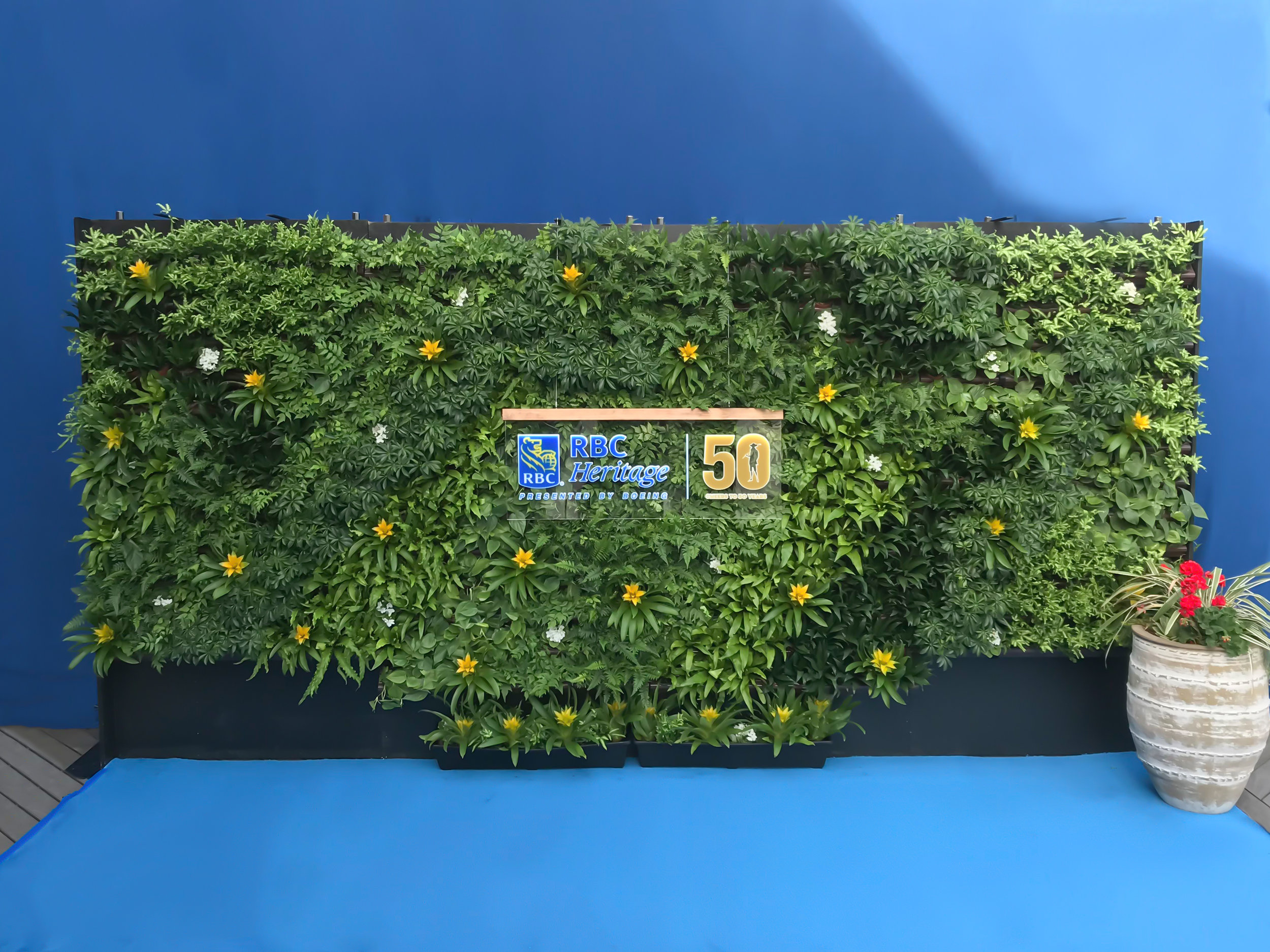 Custom Living Wall for PGA Tour Event by Suite Plants