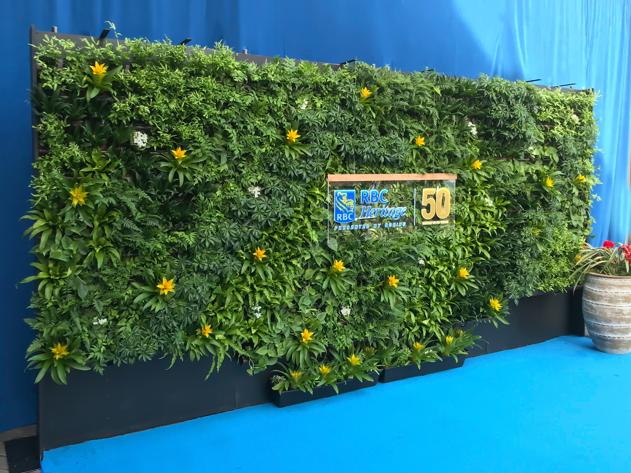 Custom Green Wall for PGA Tour Event by Suite Plants
