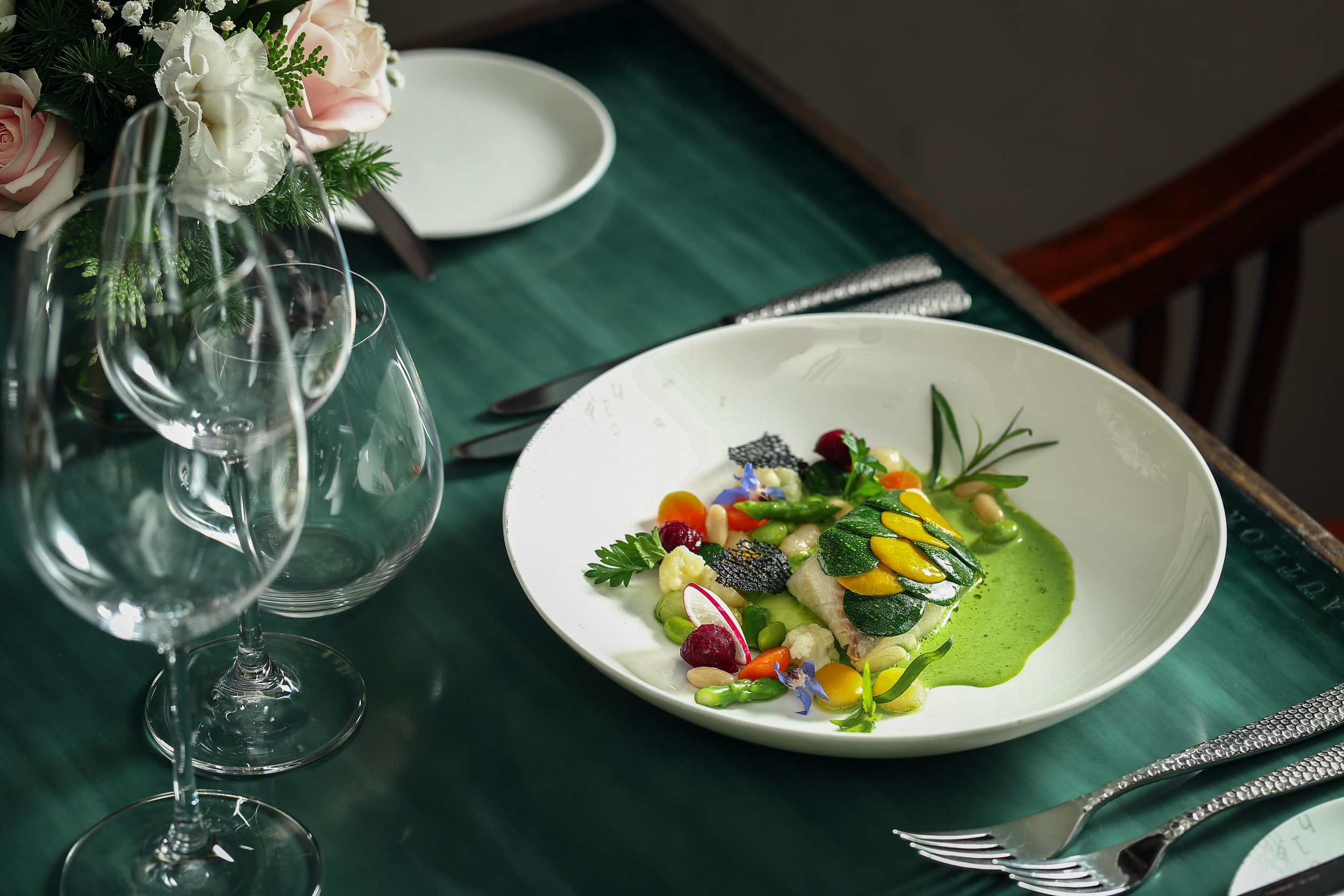 2 - Steamed cod fish with zuicchini and basil pesto.jpg