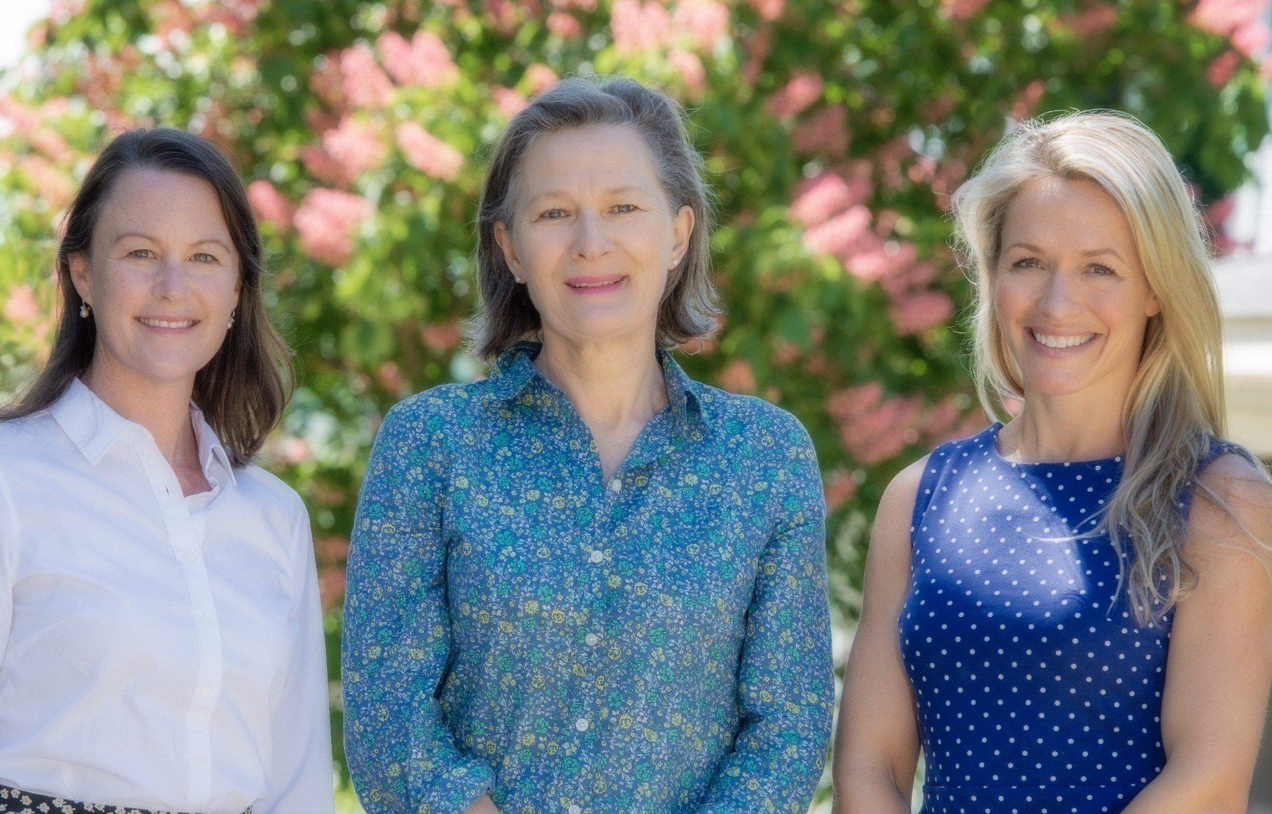 Lisa Soininen, Binni Hackett and Char Glessner