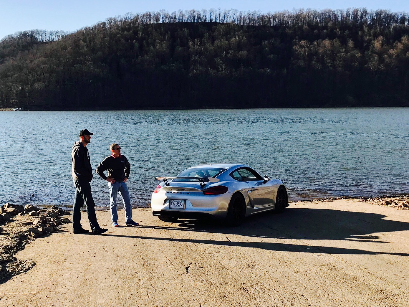 Charles and Alex Talking by GT4 on lake.jpg