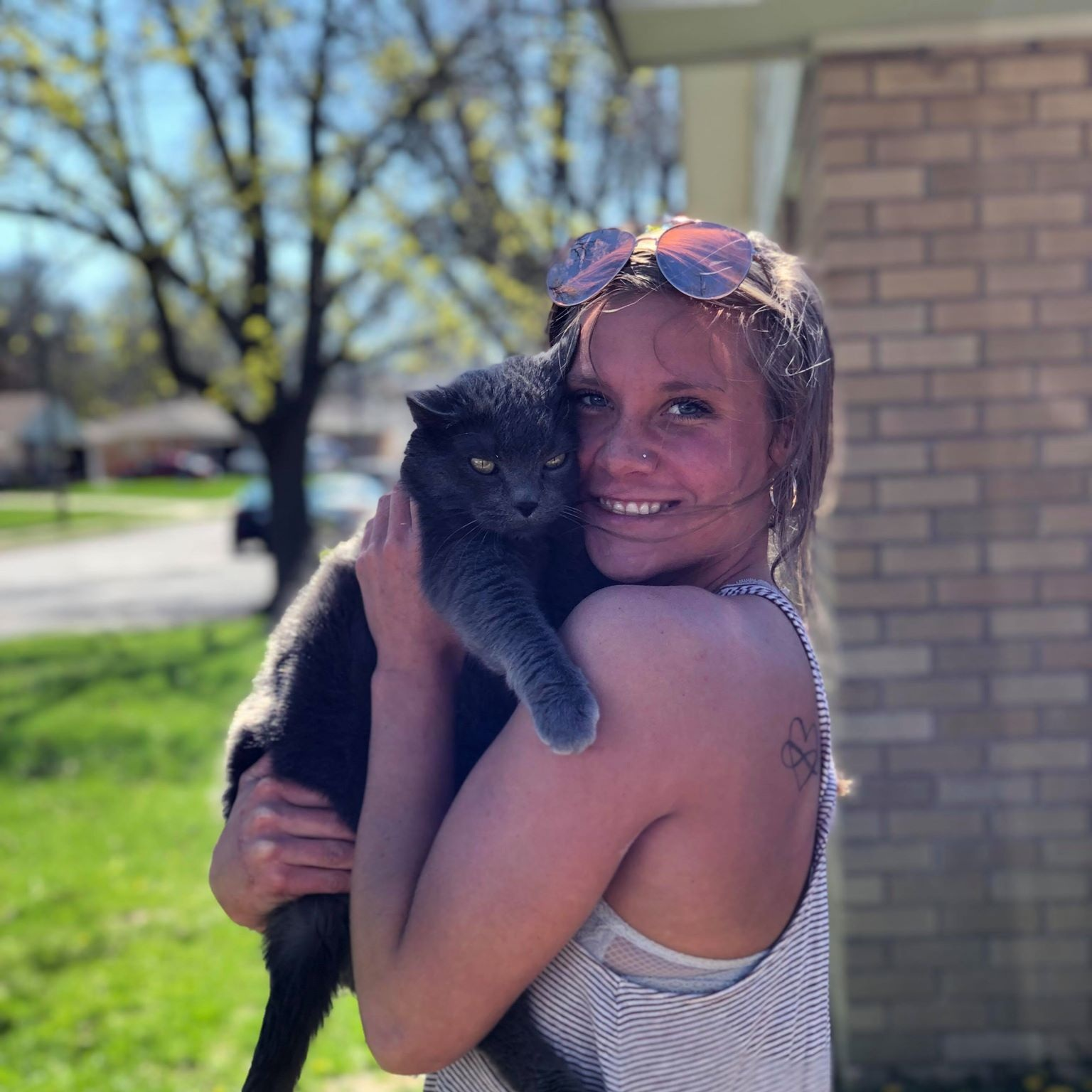 Baylee   Baylee joined us as an assistant in 2019. She has 4 brothers and graduated from Pekin High School in 2016. She is currently studying at Penn Foster College to become a Certified Veterinary Technician. She has a cat Mellow that was surrendered at Rescued Heart.