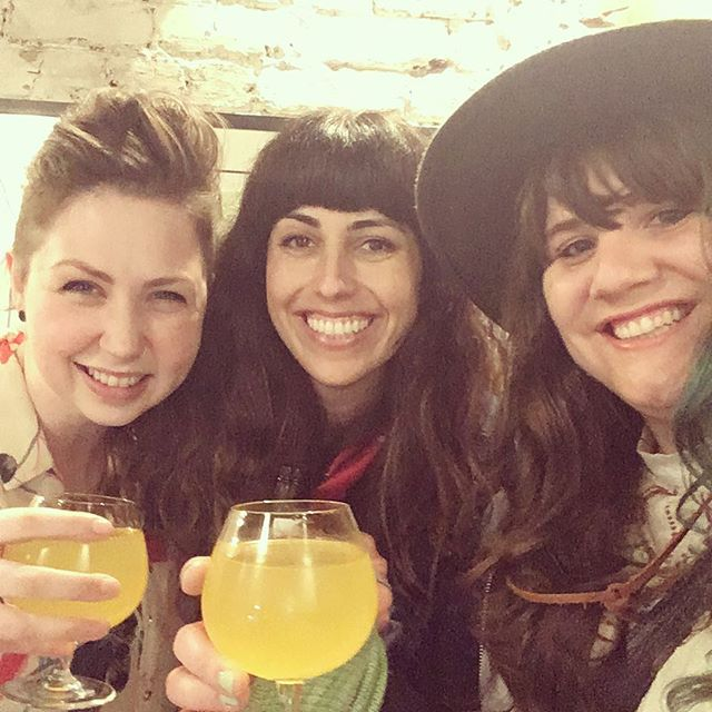 A pre-show Cheers! to kick-off the She Wanders Summer Tour!!! Not too late to catch our @qualityblockparty set 9:15 @fiveanddimesj