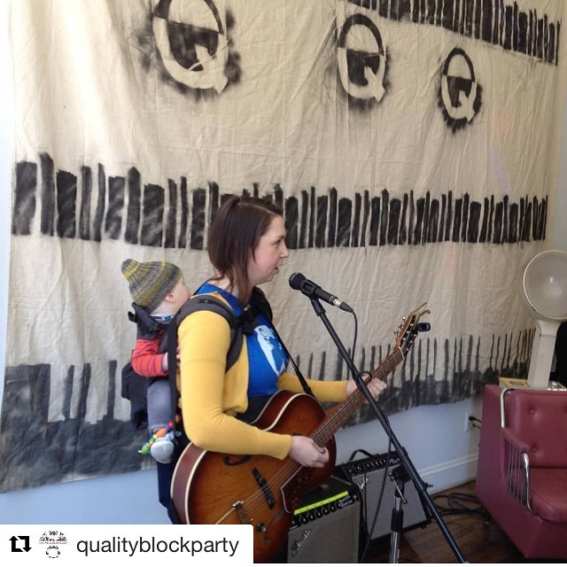 A few weeks ago Hilary and George did a pop up for #recordstoreday with @qualityblockparty. Tomorrow morning we're all headed to Touchstone to do a morning of music with students there. Taking George to work is the best. Music and kids forever 🙌🏻🙌🏻🙌🏻