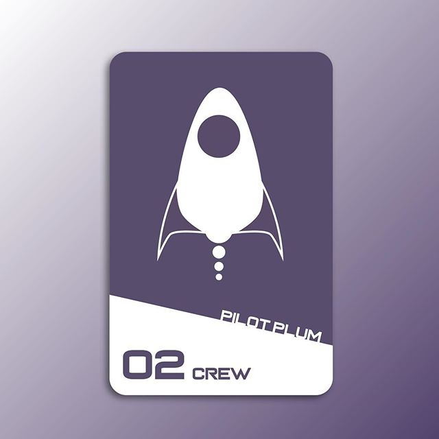 Sci-Fi Clue card 08. Introducing one of our Crew Members in this space murder mystery. Pilot Plum.  #design #graphicdesign #designer #game #clue #card #visualdesign #icon #icondesign #scifi #uxdesigner #uidesigner