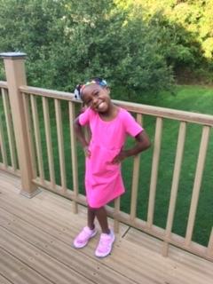 My pretty in pink kid rocking a Littleboe.com dress!