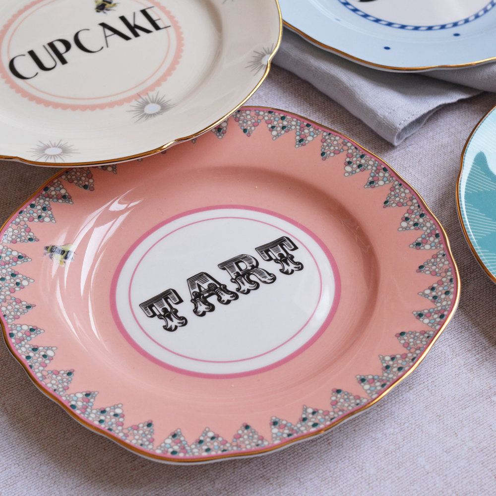 Cheeky Cake Plates, Set of 4   £40.00