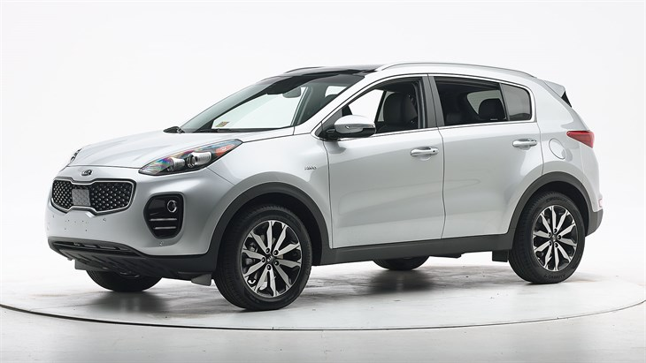 2018 Kia Sportage - with optional front crash prevention and specific headlights; applies only to vehicles built after June 2017