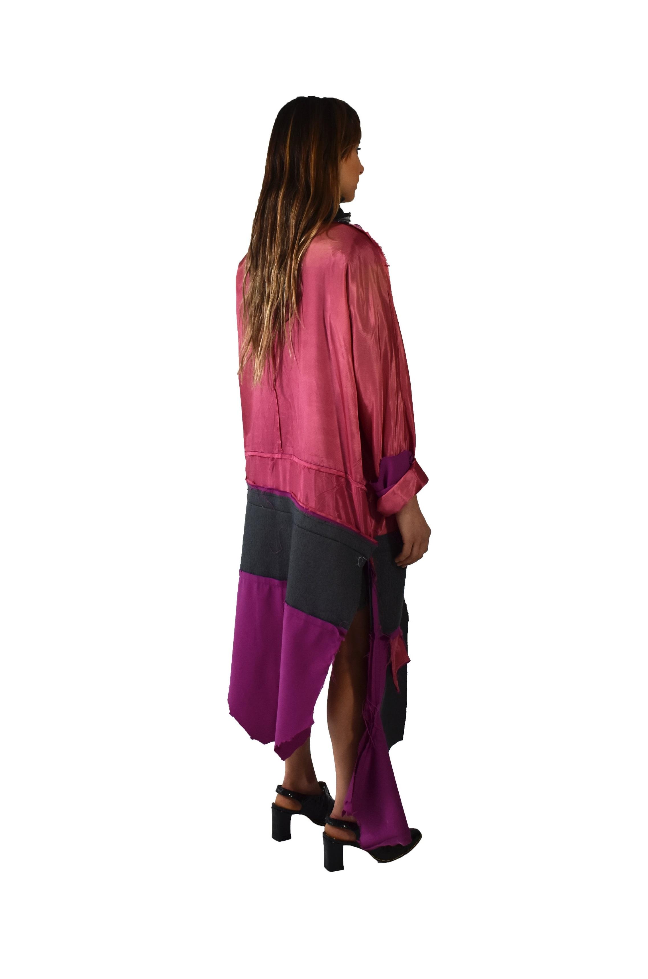 DECONSTRUCTED COLOR BLOCK BLAZER DRESS