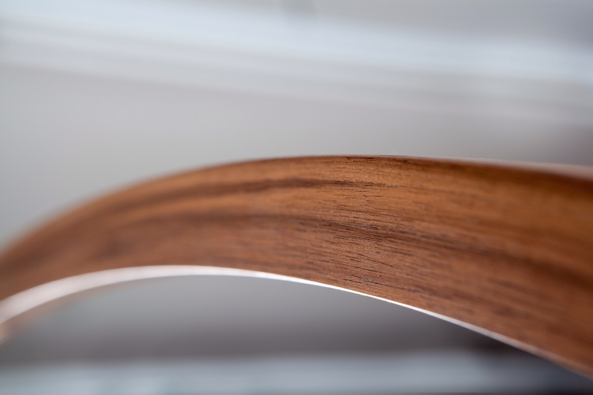 Detail of curve on 9' Bow Lamp