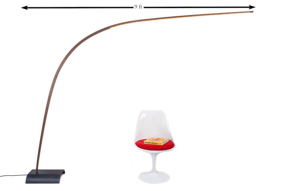 9' Black Walnut Bow Lamp