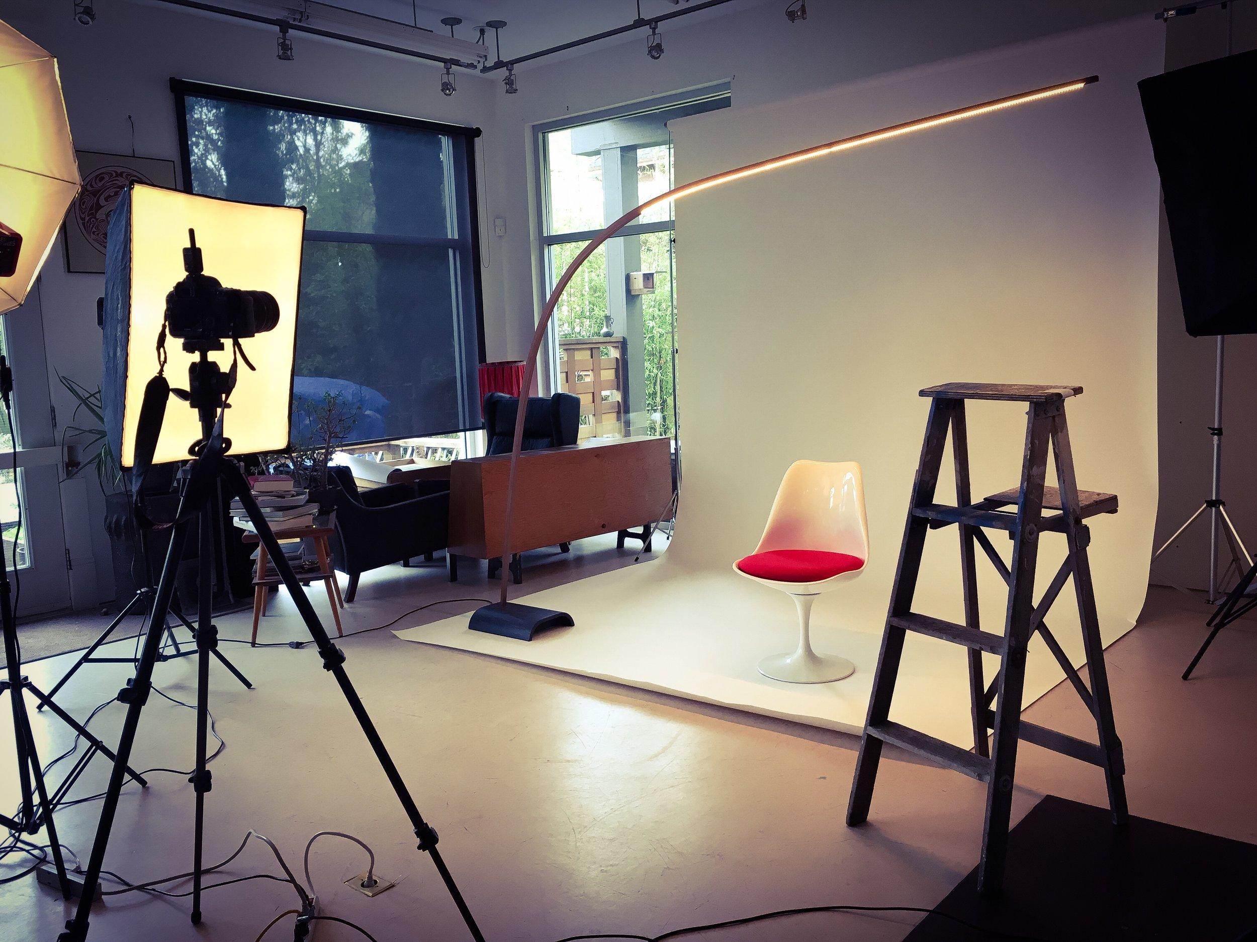 9' Bow Lamp photo shoot