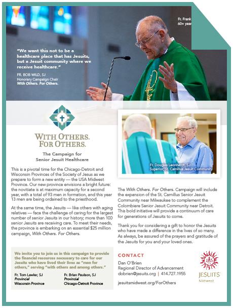 Contact Dan O'Brien  Regional Director, Milwaukee dobrien@jesuits.org | 414.727.1995