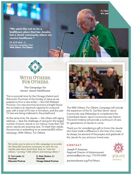 Contact Joseph P.Sweeney  Regional Director, Chicago, Cleveland jsweeney@jesuits.org | 773.975.6909