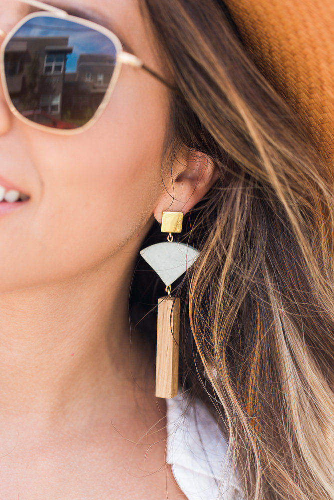 sophie monet earrings, statement earrings, venice vibes, everyday pursuits