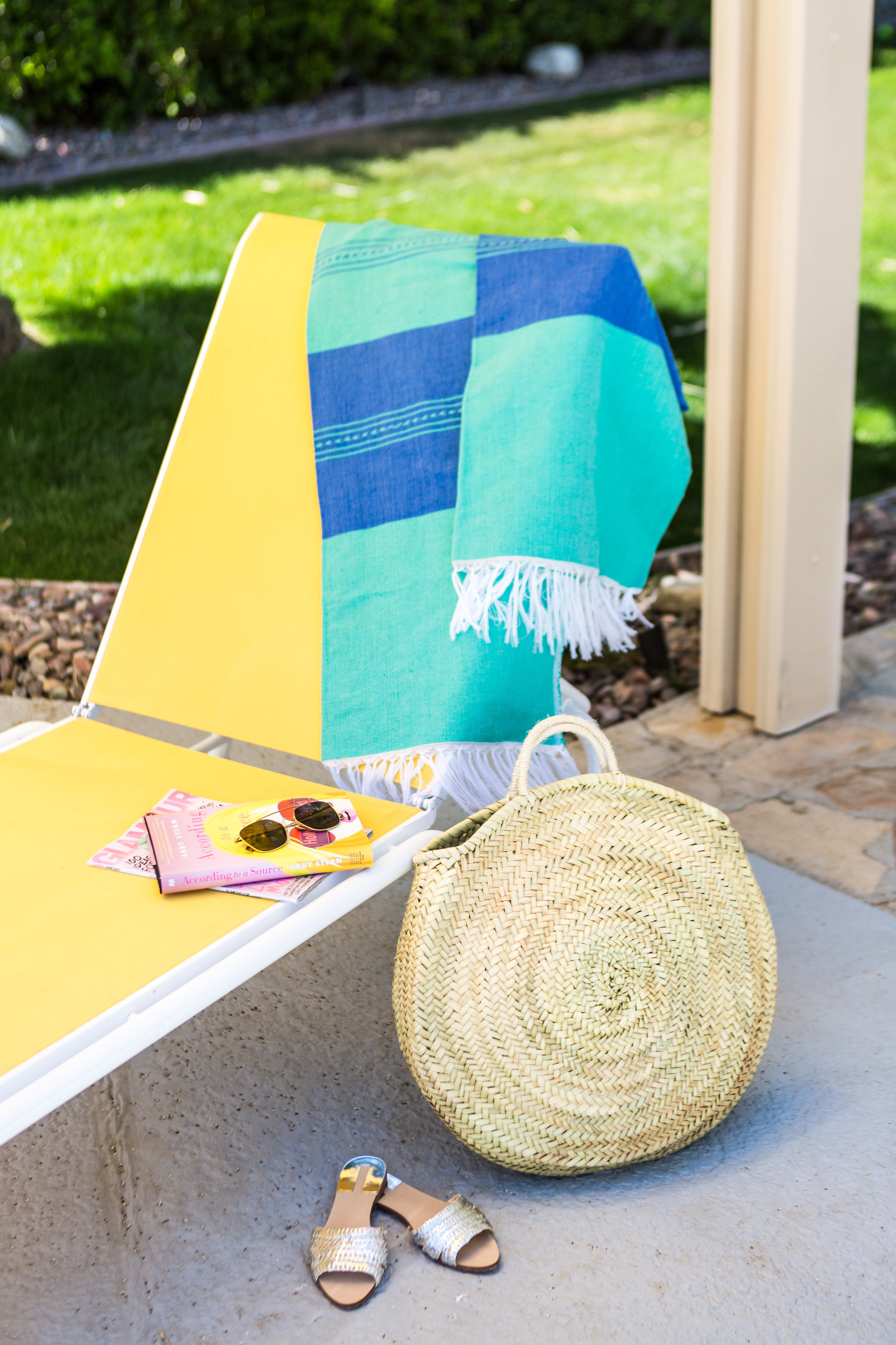 what to bring to palm springs, poolside in palm springs