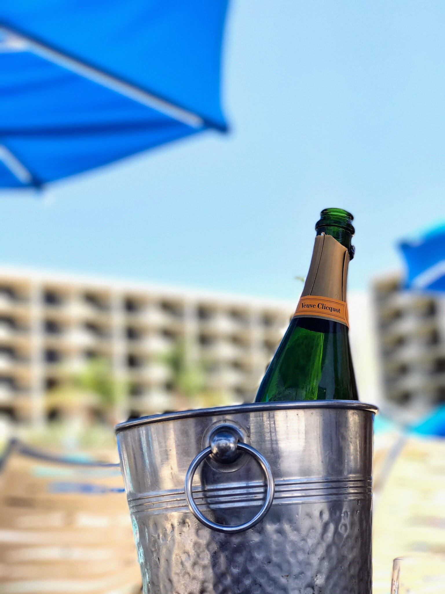 Champagne by the pool at JW Marriott Palm Desert