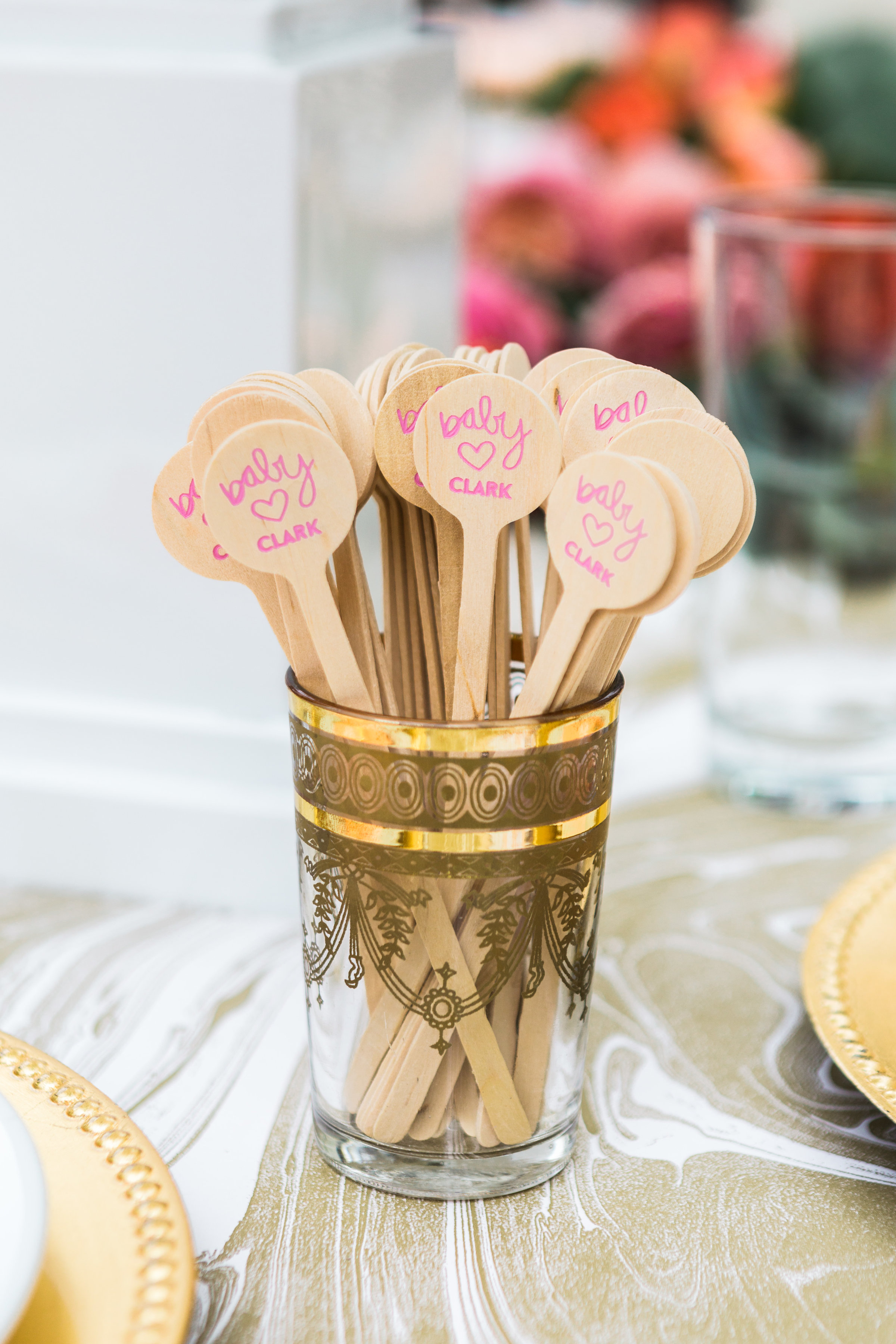 Baby Shower Essential: For Your Party Custom Stirrers