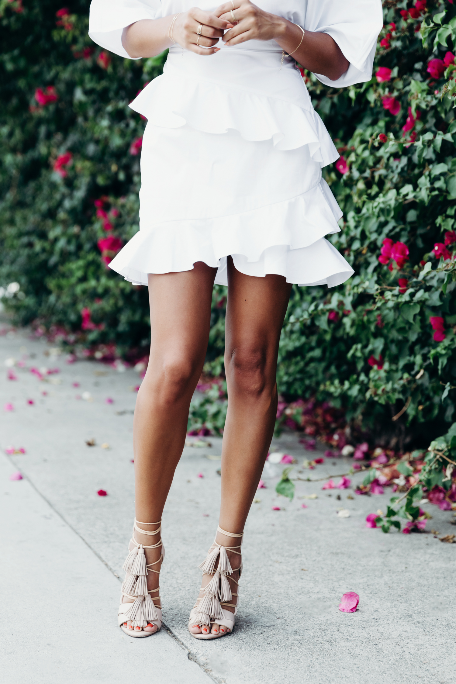 loeffler randall lace up sandals, fame and partners dress