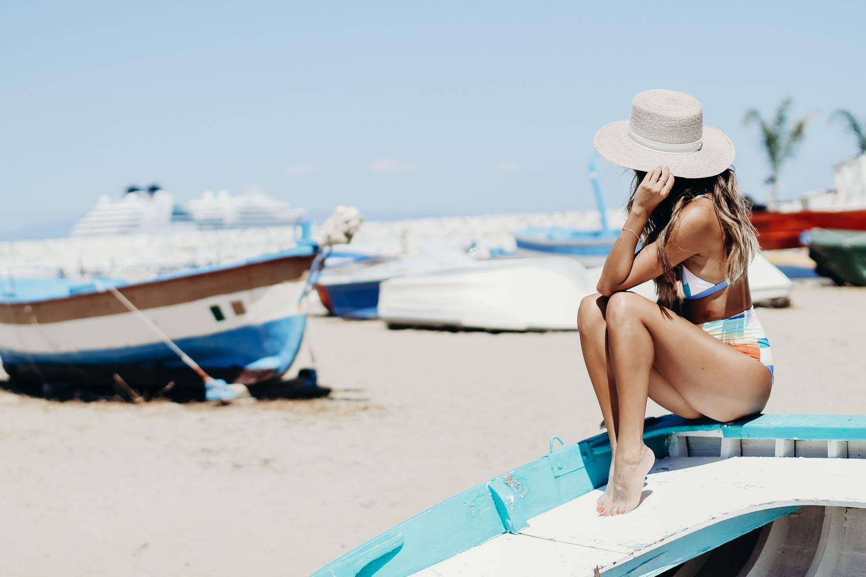 Mara Hoffman Bikini, How to wear high waist bikinis, Everyday Pursuits