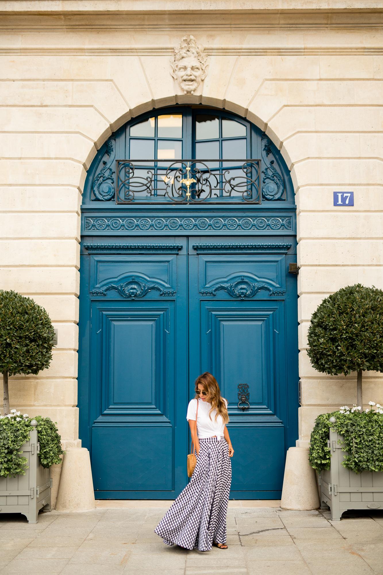 Paris Place Vendome, Everyday Pursuits goes to Paris, Fame + Partners Gingham Skirt