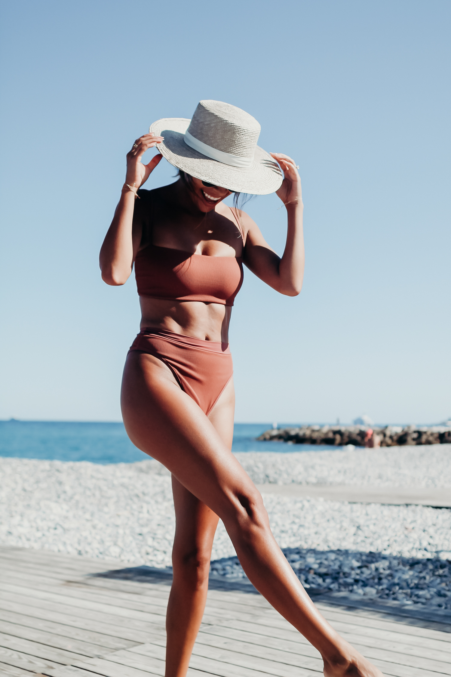 L space new ribbed bikini, Everyday Pursuit in Antibes, France