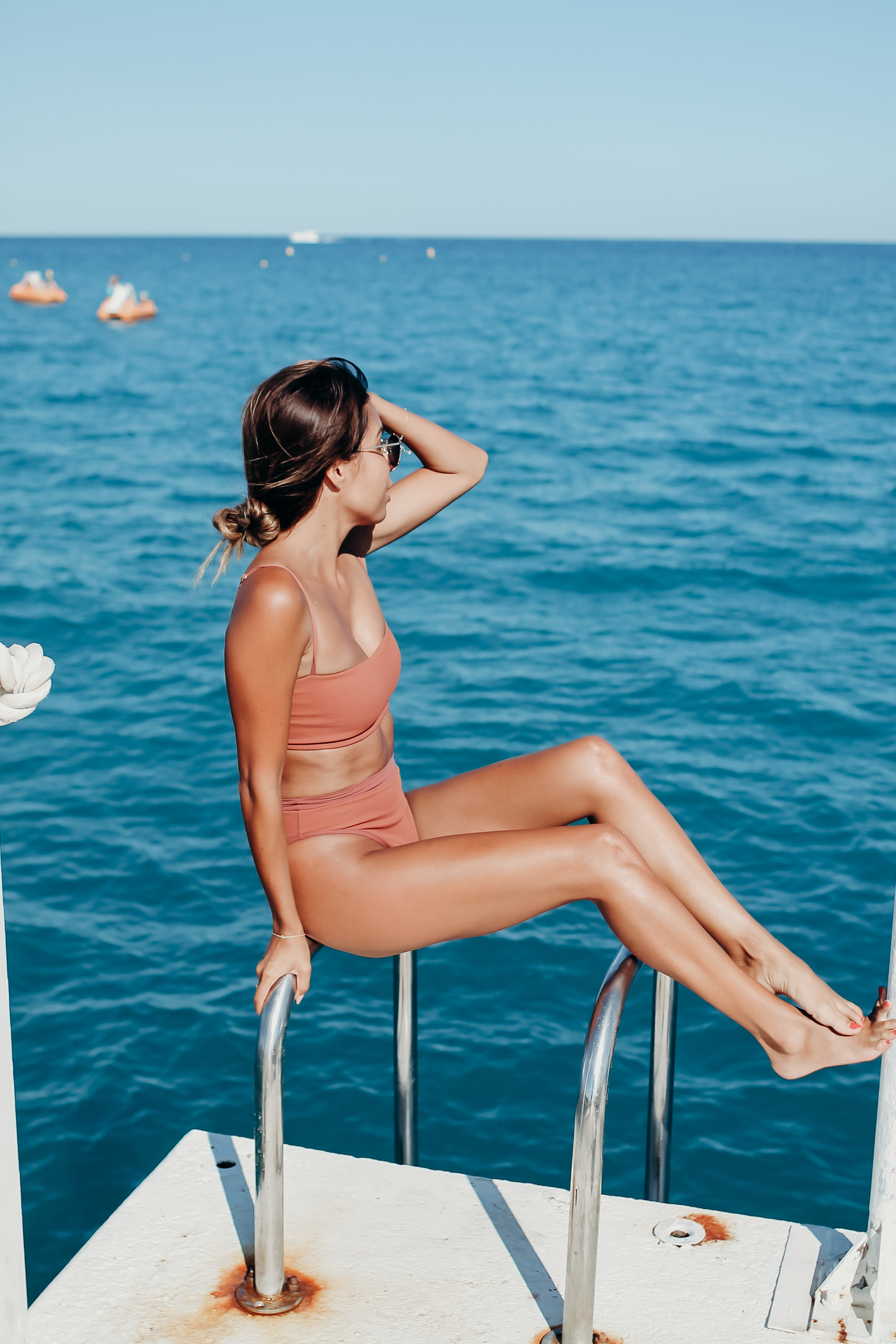 Everyday Pursuits in Antibes, France wearing L Space RIDIN' HIGH FRENCHI bikini
