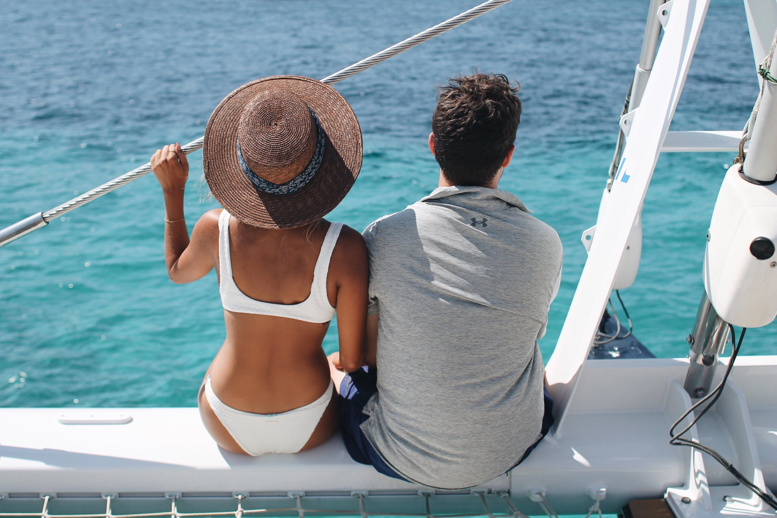 Ashley Torres Everyday Pursuits and fiance, Triangl Bikini in French Riviera