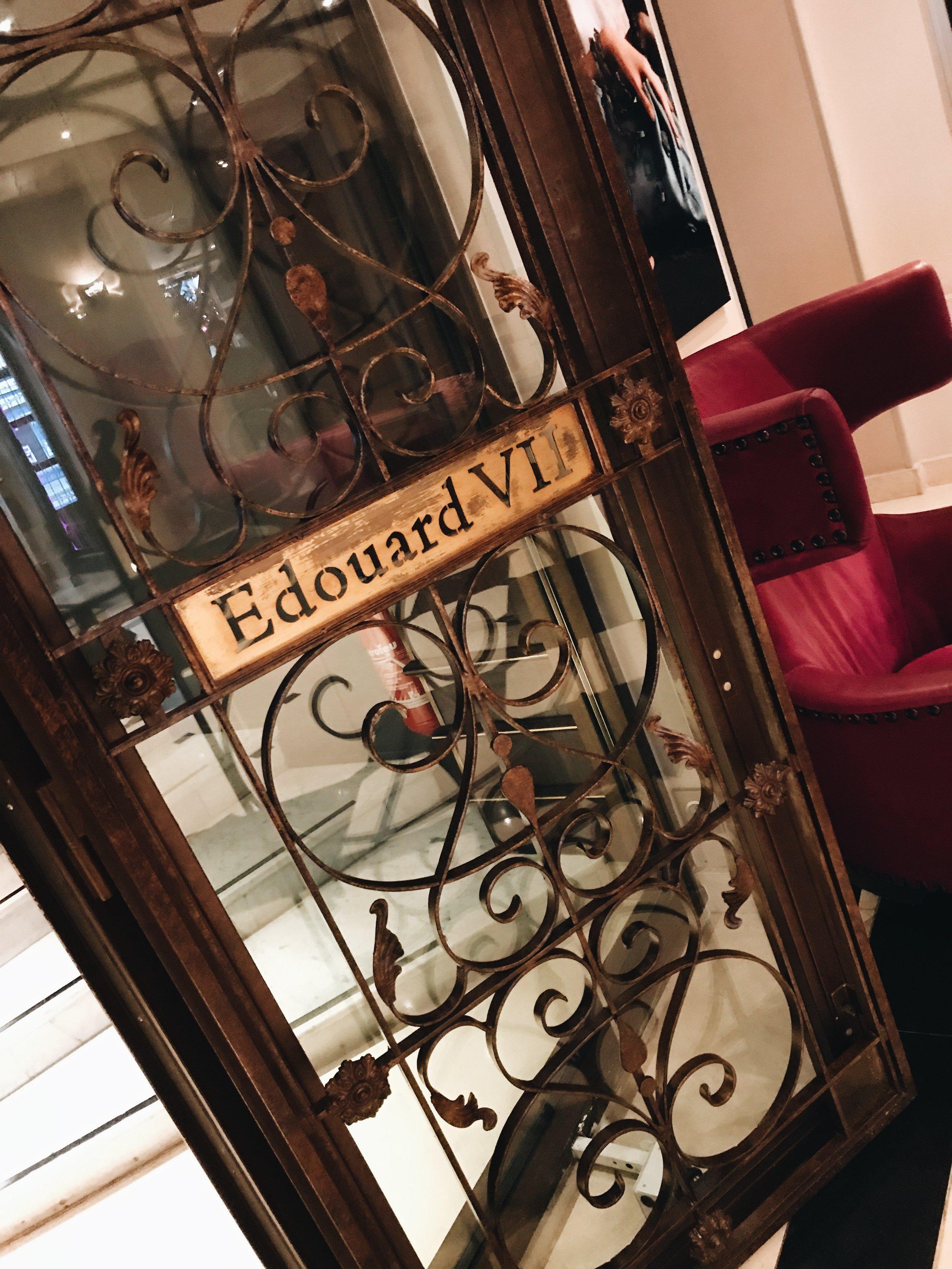 Decor details at Hotel Edouard 7, Paris
