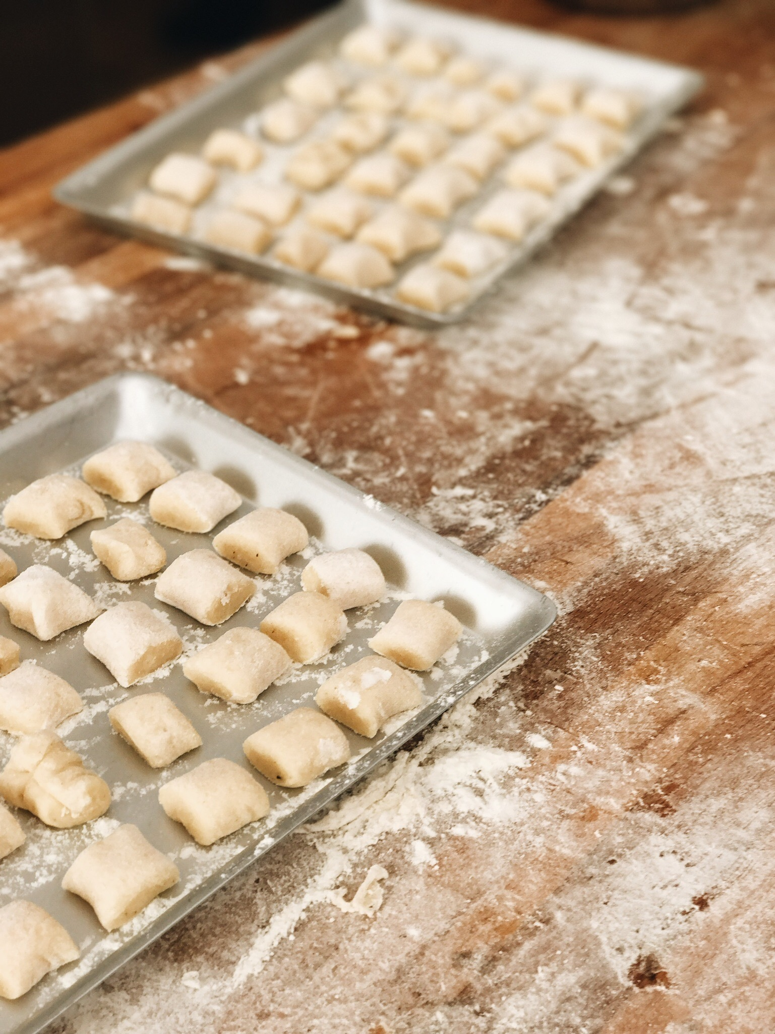 Fresh Gnocchi made in Rome, Italy