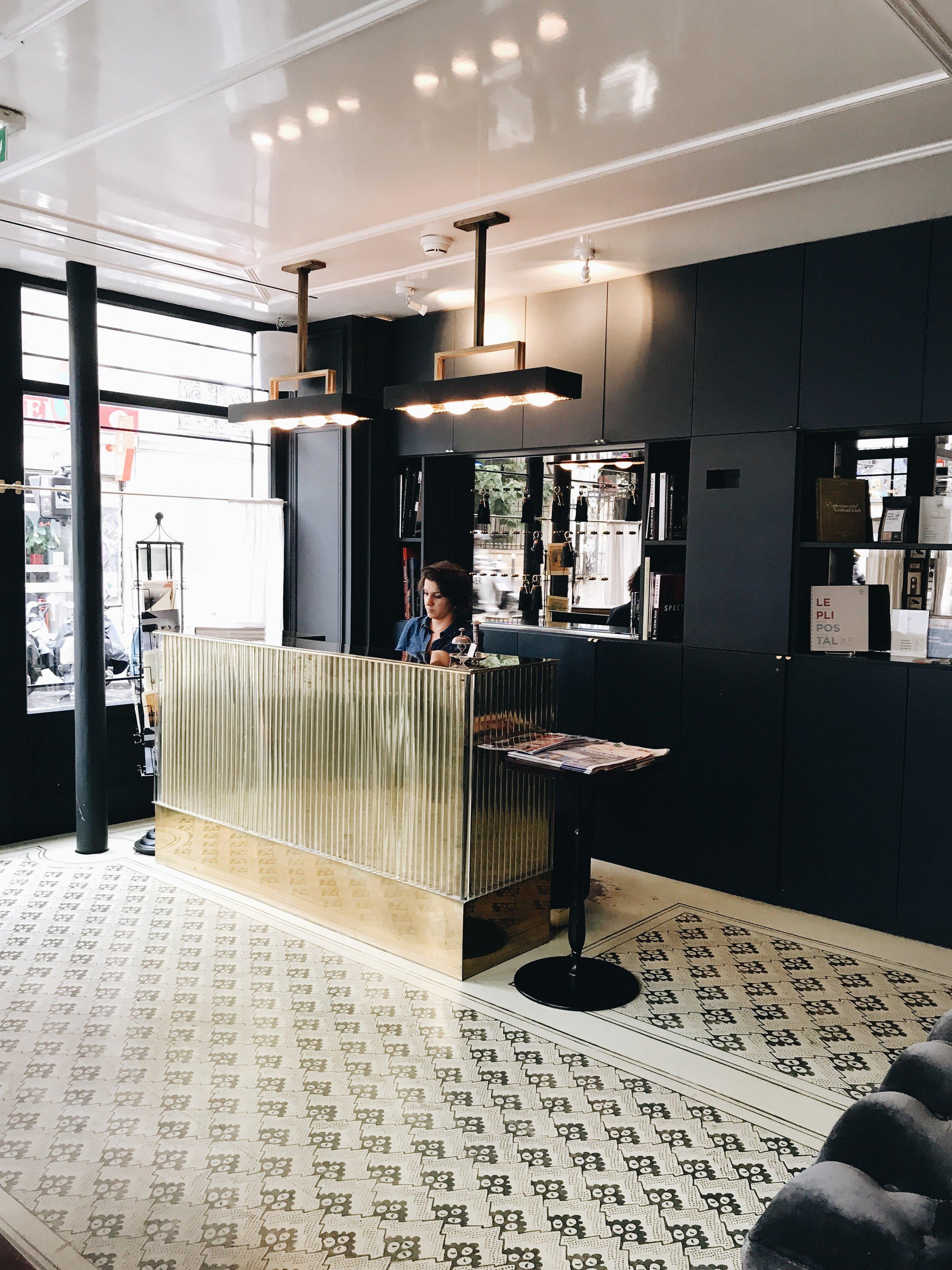 Front Desk at Grand Pigalle Hotel, Paris