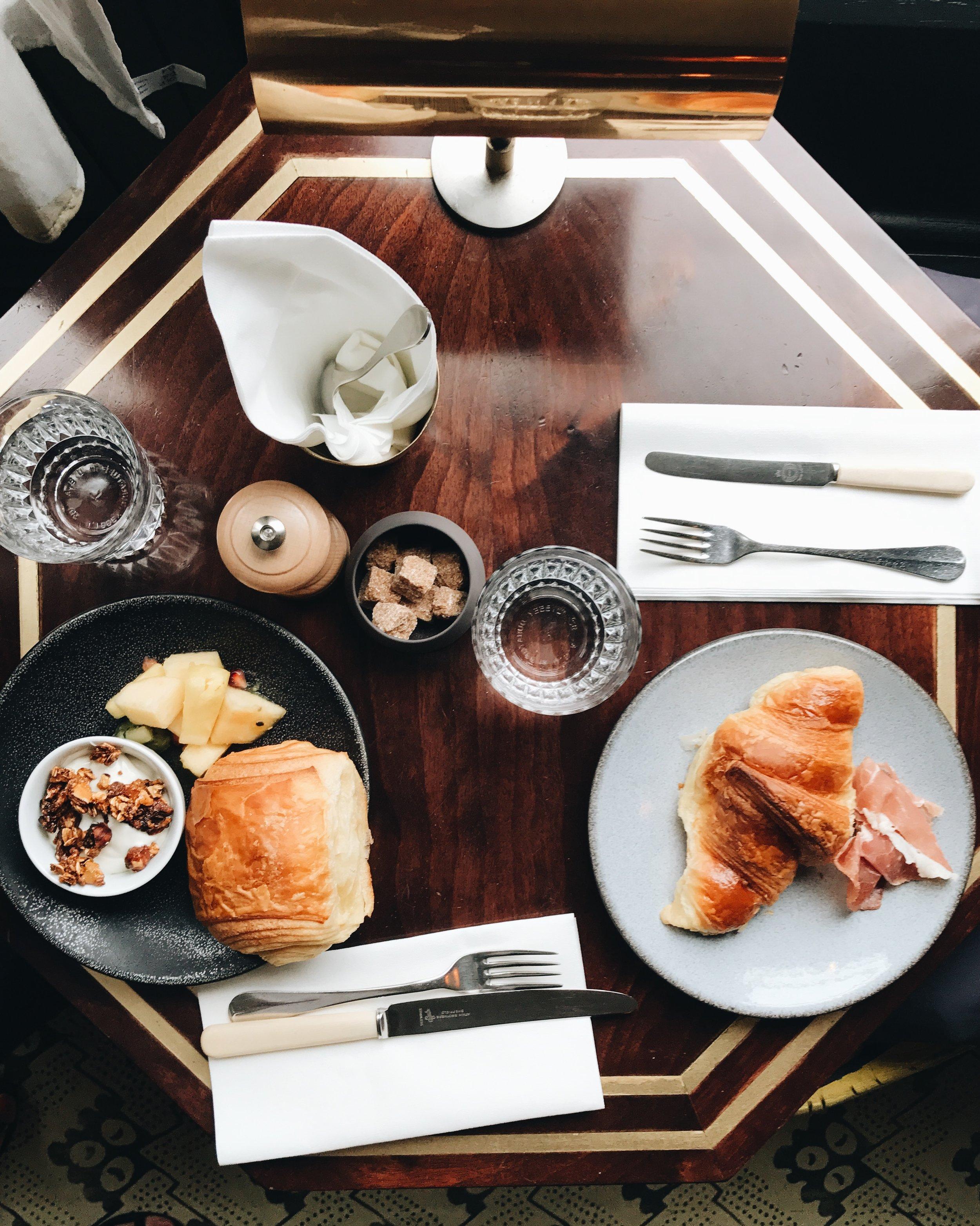 Breakfast at Grande Pigalle Hotel, Paris