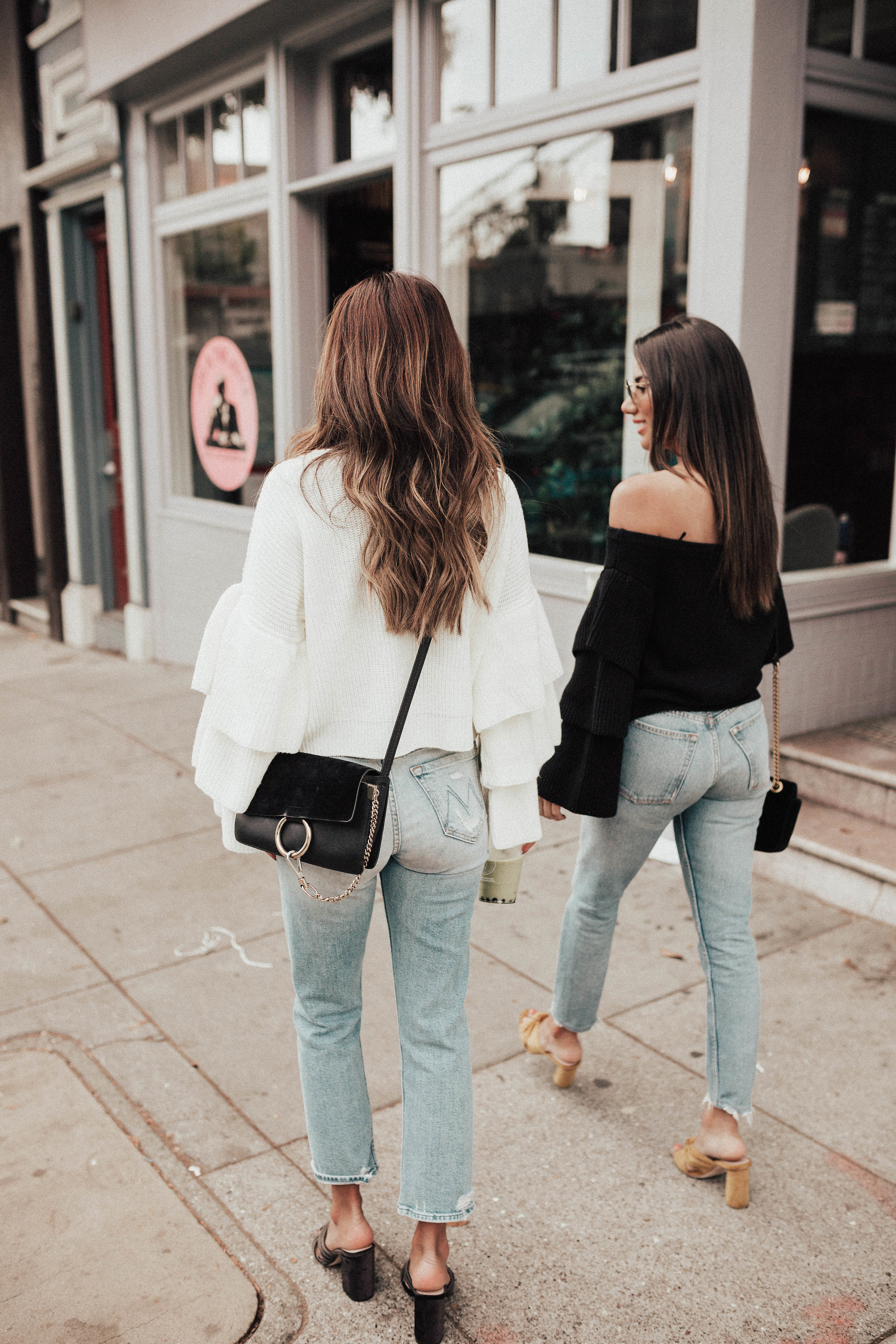 San Francisco style: jeans and sweater look