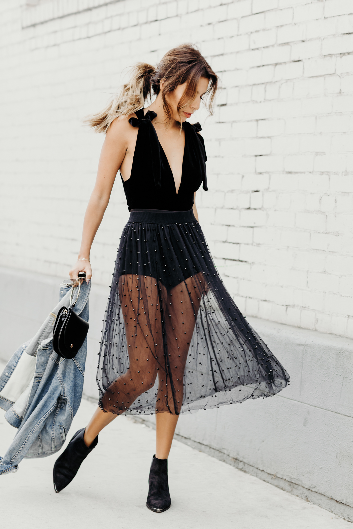 sheer pearl skirt from zara, how to wear boots with skirts