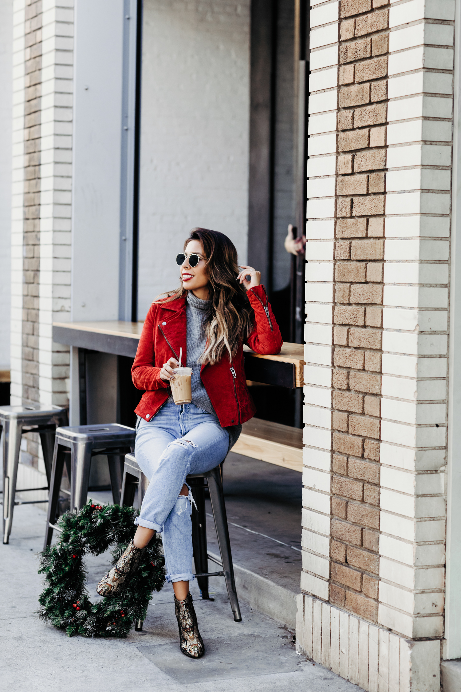 holiday in Los Angeles, embroidered booties from DSW, how to do holiday in LA