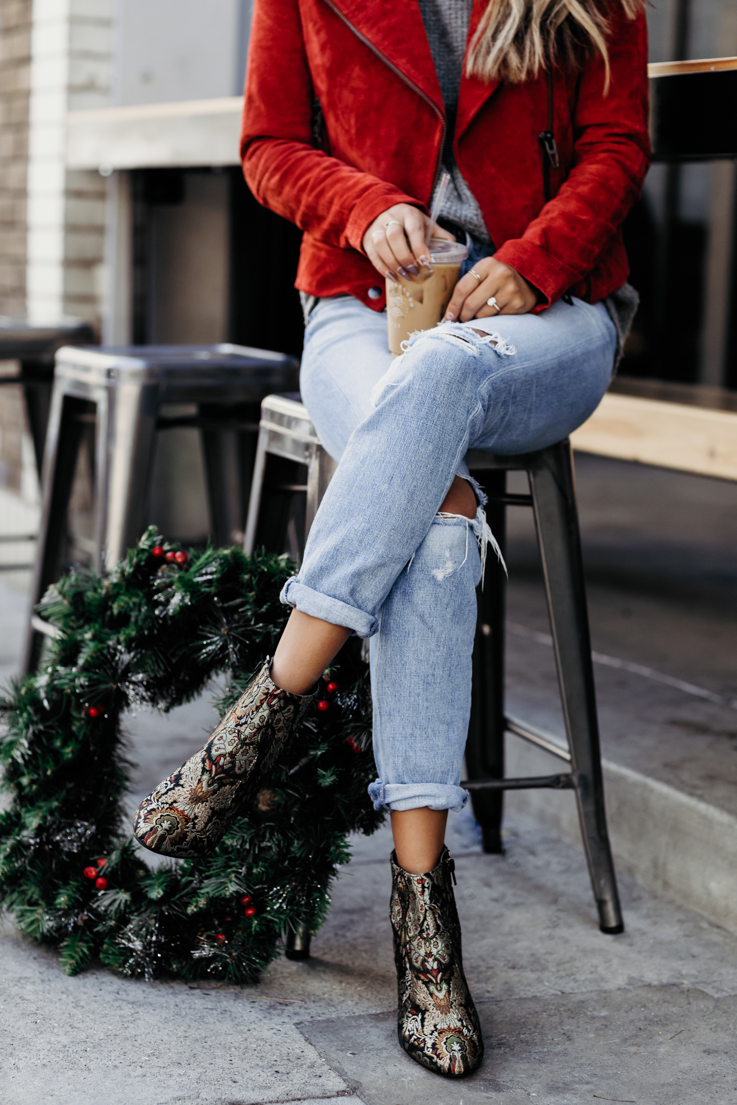 casual holiday look, DSW booties, how to dress casual for the holidays