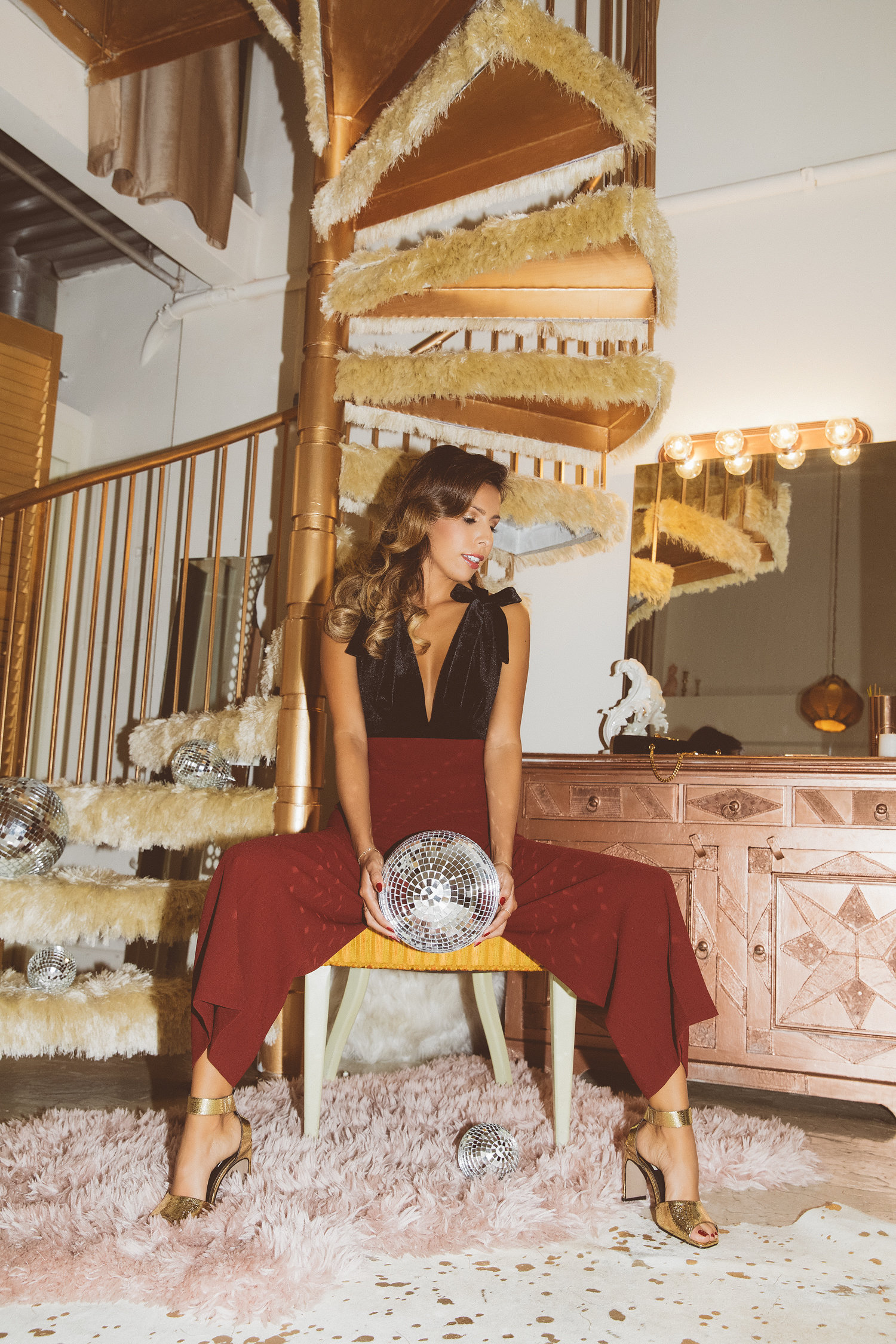 disco ball 70s outfit, holiday style, everyday pursuits
